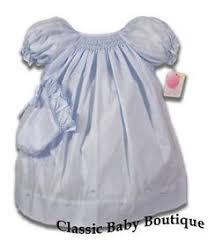 petit ami mint smocked bishop daygown dress newborn rosettes