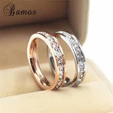buy rings cheap images Female girls geometric ring 925 sterling silver filled rose gold jpg