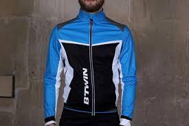 cycling jacket blue b twin 500 warm cycling jacket 2016 road cc
