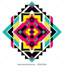 ethnic floral ornament indian geometric pattern stock vector