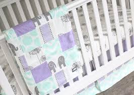 Purple Crib Bedding Set Purple Crib Bedding Mint Lavender Baby Bedding Crib