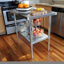 kitchen island steel stainless steel kitchen island ebay