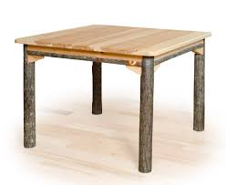 rustic square dining table square hickory dining table rustic square table hickory table