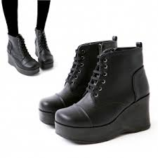 s boots wedge platform high wedge heel ankle boots