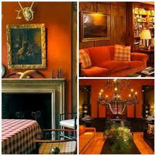 Brown Red And Orange Home Decor Burnt Orange And Brown Living Room Home Interior Design