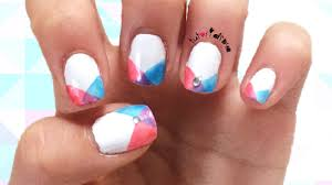 easy u0026 simple instersecting geometric nail design tutorial how