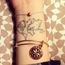 Map Of The World Tattoo Wrist by Oh The Places You U0027ll Go Tattoo Travel Worldmap Obsessed