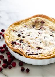 cranberry clafoutis buttered side up