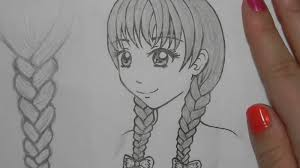 how to draw hair braids