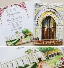 Wedding Invitations Miami A Peek In To The Studio Watercolor Venue Illustration Letterpress