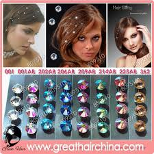 hair crystals fashion hair accessories swarovski hair crystals gh sc214