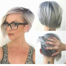 selfie titanium and undercut hair color undercut short hair