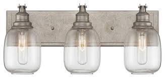 Traditional Bathroom Light Fixtures Orsay 3 Light Bathroom Vanity Lights Industrial Steel