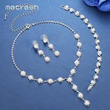 bridal earrings bracelet sets images Online shop mecresh simulated pearl bride wedding jewelry sets jpg