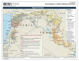 Map Of Syria And Surrounding Countries by Isil Geographical Imaginations