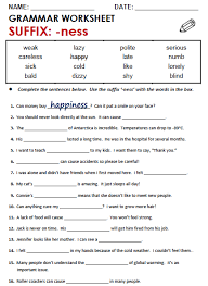 suffix able worksheet worksheets
