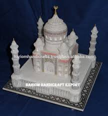 Marble Temple Home Decoration by Marble Taj Mahal Replica Gift Marble Taj Mahal Replica Gift