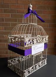 wedding card box silver birdcage card holder shower card box
