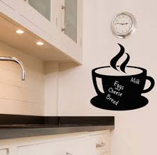 chalkboard wall sticker kitchen decals tea cup ebay please use the dropdown tab at the top of the page to select your colour and size requirements