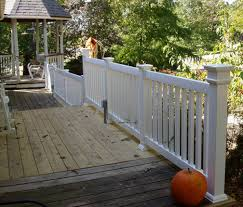 kitchen amazing gate kits for vinyl deck and porch railing plan