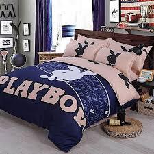 Playboy Duvet Sets B4s017 Playboy Pillow Cases Bed Sheet Comforter Cover 4 Pcs Set