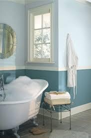 Bathroom Color Idea Cool Two Tone Blue Bathroom Colors Idea Combined With White