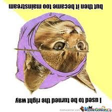 Hipster Kitty Meme - hipster kitty upside down by leon13r meme center
