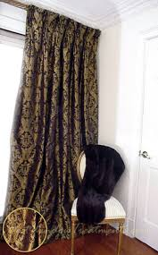 Black Gold Curtains Ready Made Black Gold Damask Drapery Curtain Swatches