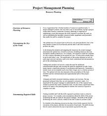 sample resource plan template 6 free documents in pdf