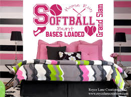 Wall Stickers For Girls Room Softball Wall Decal For Girls Room B33 Teen Bedroom Teen