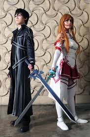 sword art online asuna kirito peace justice by khainsaw on