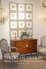 Western Interior Design by Tiberian Design Projects Framed Intaglios U2014 Tiberian Design