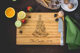 personalized wedding cutting board personalized family christmas tree cutting board