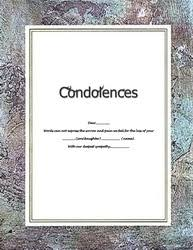 condolences cards sympathy free suggested wording by theme geographics