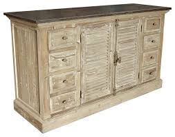 french provincial louvered doors white wash sideboard