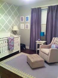 Purple Curtains For Nursery Purple Curtain And Beige Tufted Armchair For Amazing Baby Nursery