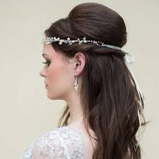 1950s hair accessories harriet boho pearl delicate forehead band miss white