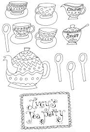 teapot printable coloring pages eson me