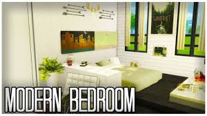 Modern Minimalist Bedroom Sims 4 Modern Minimalist Bedroom Speedbuild Youtube