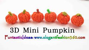 rainbow loom pumpkin 3d mini charms how to loom bands