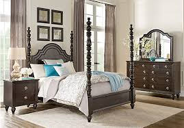 5 pc queen bedroom set picture of westerleigh oak 5 pc king high poster bedroom from king