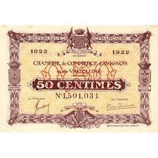 chambre de commerce avignon billet des chambres de commerce avignon 50 centimes