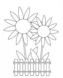 Easter Flower Coloring Pages - free spring clip art flowers butterflies easter u0026 more