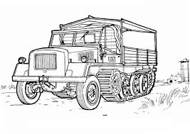 army vehicles coloring pages to download and print for free