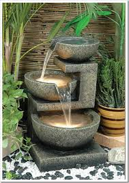 Waterfall Fountains For Backyard by Chic Outdoor Water Features Outdoor Water Features Water