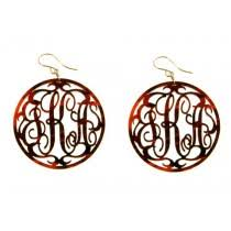 monogram earrings monogrammed and personalized earrings preppy gifts