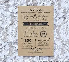 kraft paper wedding invitations diy wedding invitation template in black ahandcraftedwedding