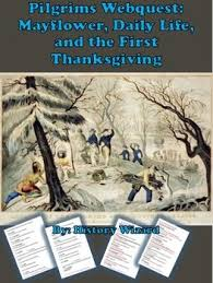 pilgrims webquest mayflower daily and the thanksgiving