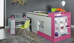 chambre combiné fille lit enfant combiné avec bureau coulissant pas cher vera