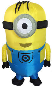 Despicable Minion Costume Cosplay Party Inflatable Minion Costume Halloween Despicable